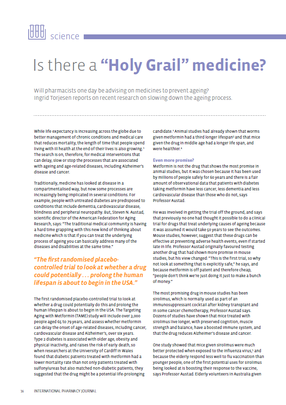 "Is there a ""Holy Grail"" medicine? - FIP - International"