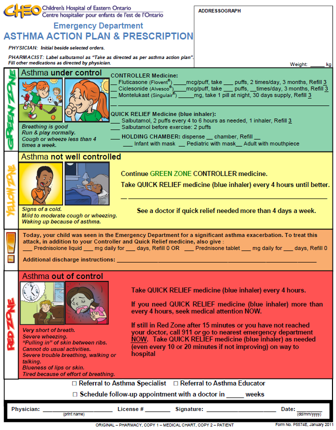 asthma management plan template - asthma care plans images frompo 1